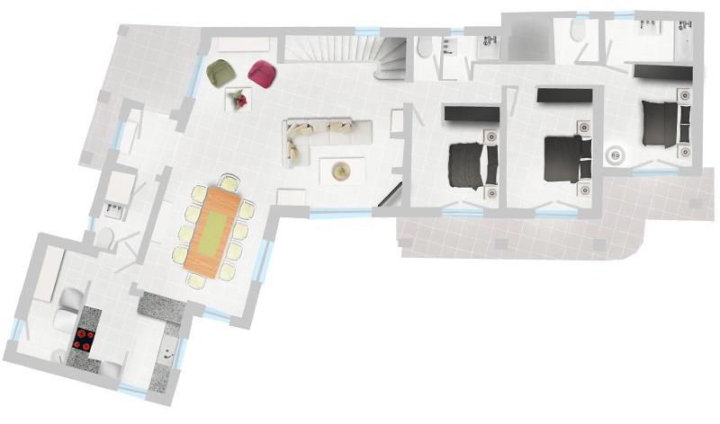 Erdgeschoss Villa Levant